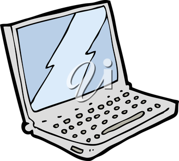 Royalty Free Clipart Image of a Laptop Computer