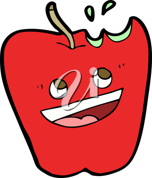 Royalty Free Clipart Image of a Apple