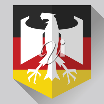 German Flag and Symbol Combination. German emblem