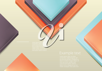 Modern business origami style options banner. Vector illustration.