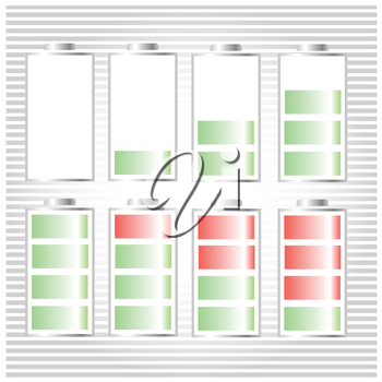 colorful illustration with Battery Icon  for your design