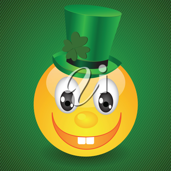 colorful illustration with smile on green background for your design