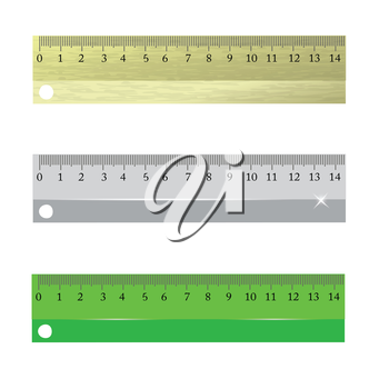 colorful illustration with  rulers on a white background for your design