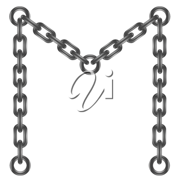 illustration with chain letter  on a white background  for your design