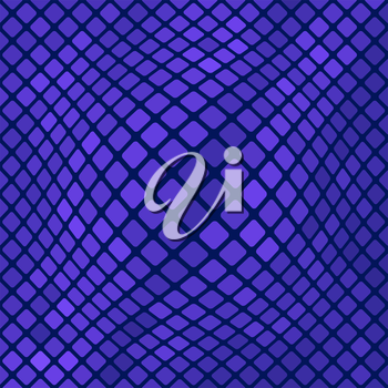 Blue Square Pattern. Abstract Blue Square Background
