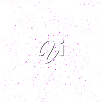 Pink Confetti Seamless Pattern Isolated on White Background. Set of Particles.