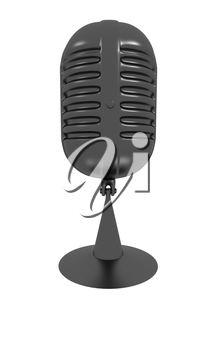 gray carbon microphone icon on a white background
