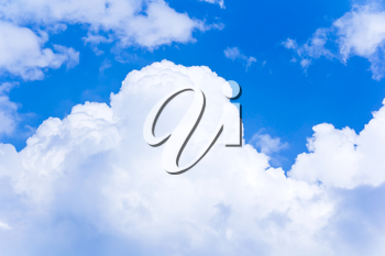 Photo of summer blue sky with white clouds