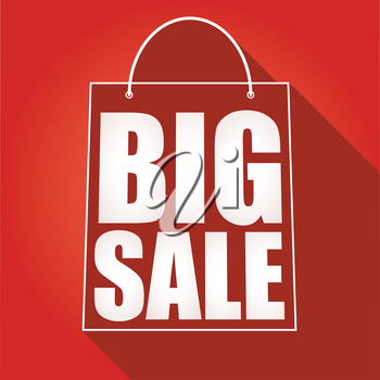 Poster big sale, shopping bag with shadow