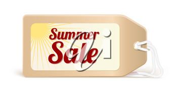 Advertising banner sales with typography. Advertising in retro style on the label, tag with the bright sun on white background