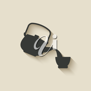 tea ceremony icon - vector illustration. eps 10