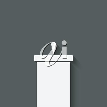 podium with microphone - vector illustration. eps 10