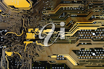 integral circuit board background close up