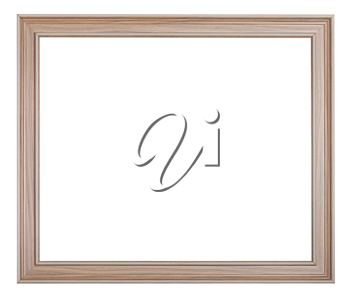 modern painted wooden picture frame with cut out blank space isolated on white background