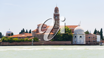 travel to Italy - view of San Michele island in Venice city
