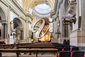PALERMO, ITALY - JUNE 24, 2011: indoor of Palermo Cathedral. It is the cathedral church of Roman Catholic Archdiocese of Palermo dedicated to the Assumption of the Virgin Mary