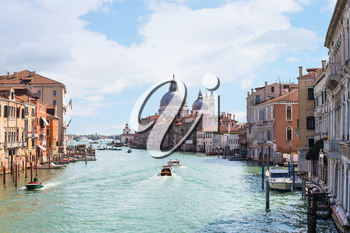 travel to Italy - view of Grand Canal in Venice city in spring