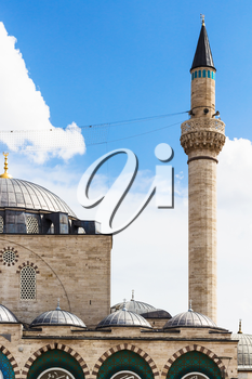 Travel to Turkey - minaret and dome of Selimiye Mosque (Selim II Mosque) in Konya city