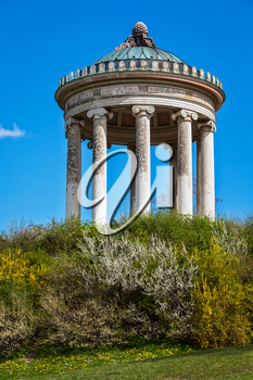 Monopteros - Greek style temple in Englischer Garten. Munich, Germany
