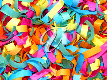 Multicolored confetti abstract suitable as background.