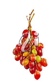Grape Bunch Isolated On A White Background.