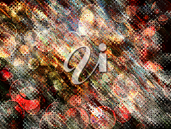 Multicolored sparkling bokeh abstract background.Digitally generated image.