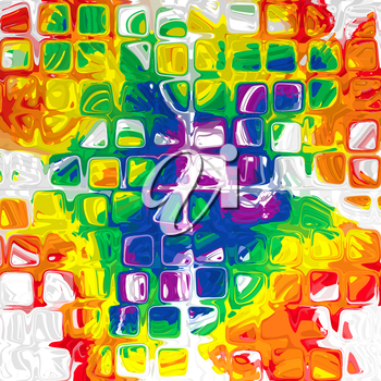 Bright multicolored cube shape pattern as abstract background.Digitally generated image.