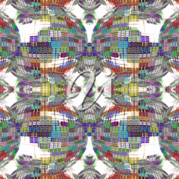 Collage made from abstract multicolored globe silhouettes on white background.Digitally generated image.