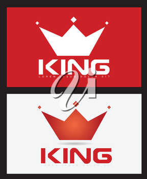 Vector template of king crown icon illustration