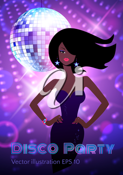 Disco party flyer. Vector illustration.