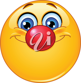 Emoticon with clown nose