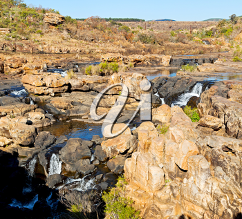 in south  africa river canyon park nature reserve  sky and rock