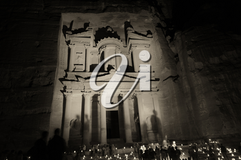 the antique site of petra in jordan the beautiful wonder of the world at night