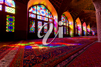 in iran colors from the windows the olf mosque traditional scenic light