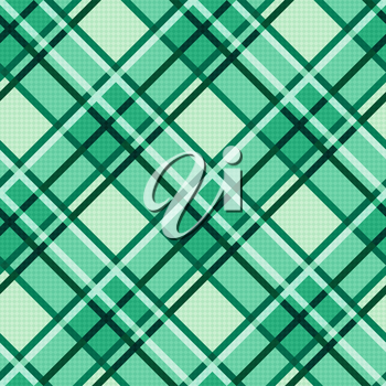 Seamless diagonal vector modern trendy colorful pattern mainly in Emerald hues