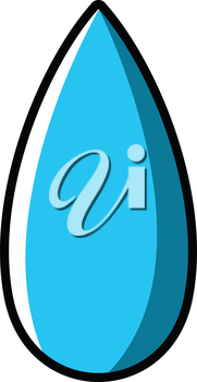 Royalty Free Clipart Image of a Raindrop