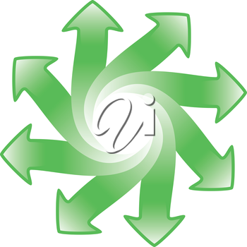 arrows wheel with space for logo