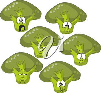 Royalty Free Clipart Image of a Brocolli Set