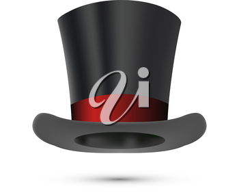 Top Hat isolated on white. Vector illustration