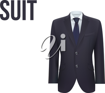 Suit isolated on white background. Vector illustration