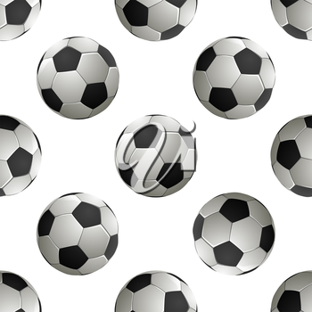 Soccer football Seamless pattern. Vector illustration