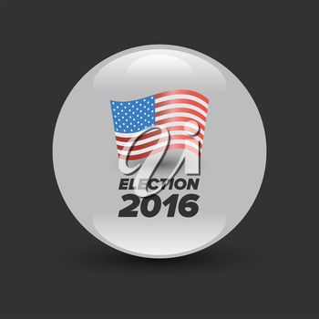 United States Election Vote Badge with shabow on black background