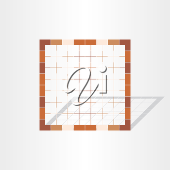 brown cage grid design element abstract table
