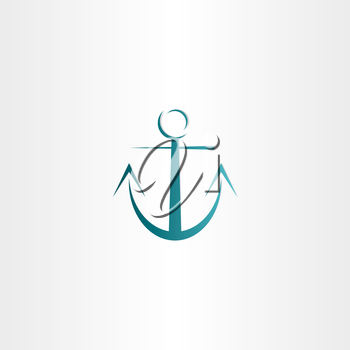 stylized anchor icon design element