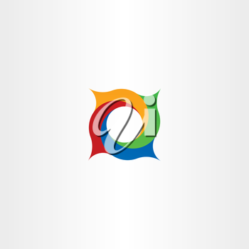 abstract circle in square spiral logo vector design