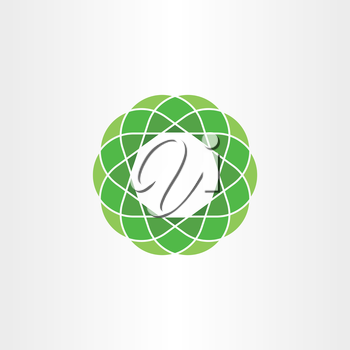 green polygon circle icon abstract background design