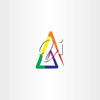 colorful rainbow triangle logo abstract icon