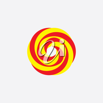 flower rose red yellow abstract logo icon background vector