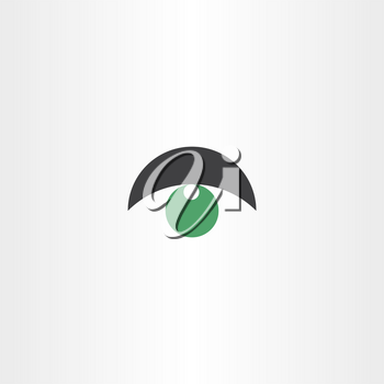 green eye vector logo symbol