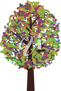 colorful abstract tree illustration vector